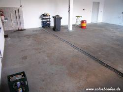 Garage mit Ablaufrinne vorher