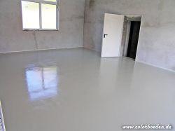 Garagenboden mit rutschhemmender Bodenbeschichtung