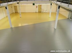 Der Boden in seiner Endfassung, nach den Wünschen des Kunden erstellt