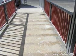 Fußgängersteegbrücke vorher