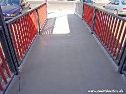 Fußgängersteegbrücke nachher mit einer rutschhemmenden Bodenbeschichtung